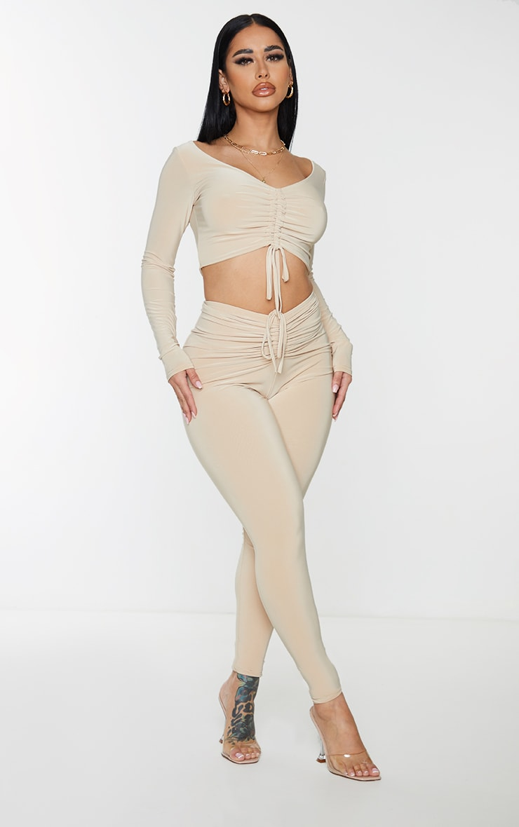 Shape Stone Slinky Ruched Front Leggings