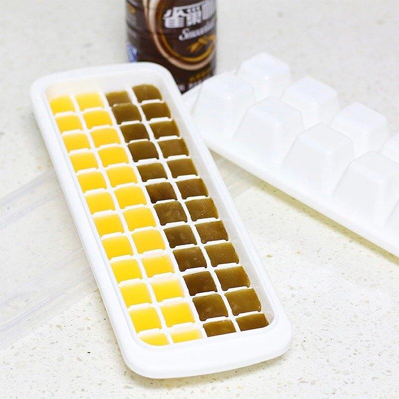 冰箱帶蓋凍冰塊制冰盒結冰格子器創意做雪糕磨具棒冰冰棍模具