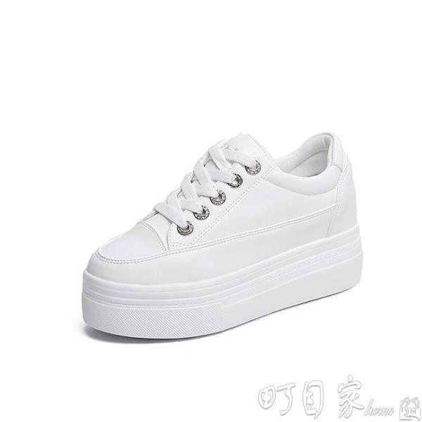 增高鞋 內增高女鞋秋季韓版厚底鬆糕鞋小白鞋學生休閒鞋XTHQ1033 【快速出貨】