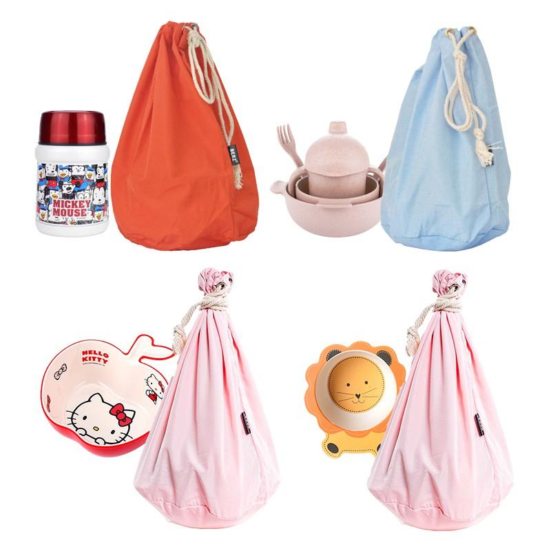 現貨+下殺英國品牌Berz兒童餐具收納袋外出寶寶碗嬰兒碗手提袋便攜防水布袋