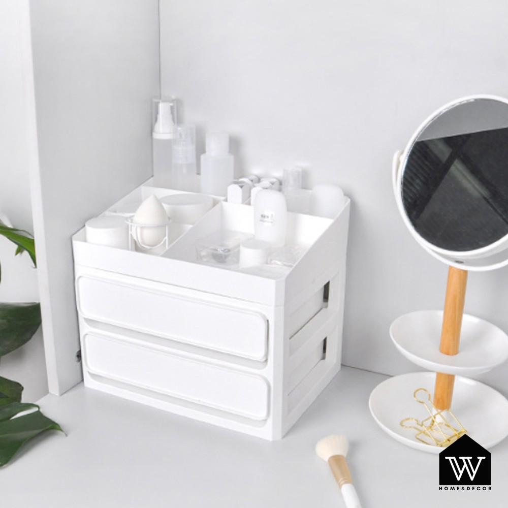 【好物良品】桌面抽屜式多用分類防塵儲物盒 文具/化妝品/口紅分類收納置物盒 - 三層|梳妝台/書桌收納