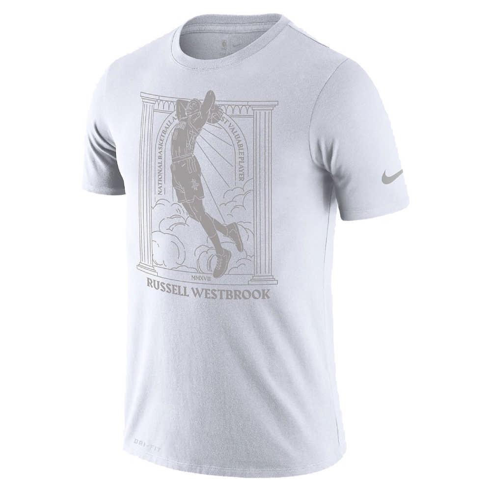 NIKE NBA MVP 圖案 短袖T恤 火箭隊 Russell Westbrook 白色