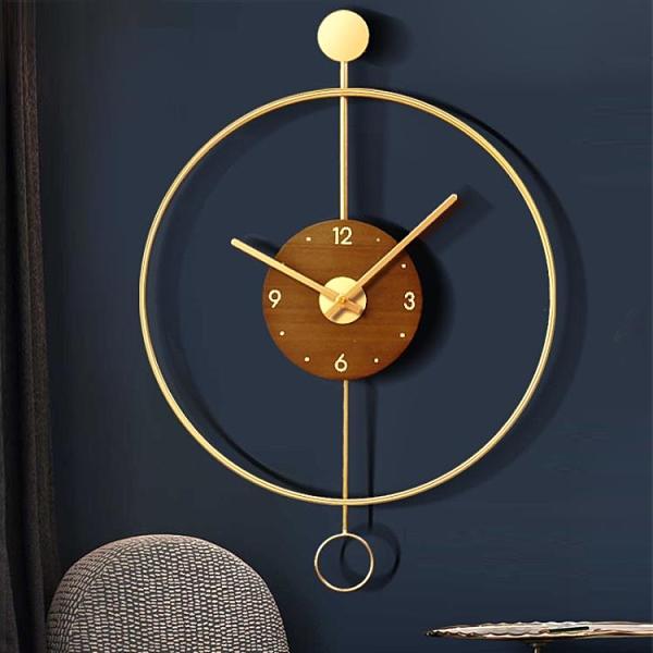 西班牙北歐極簡約家用客廳掛鐘現代輕奢鐘錶裝飾鐘創意個性掛墻錶 【雙十二下殺】
