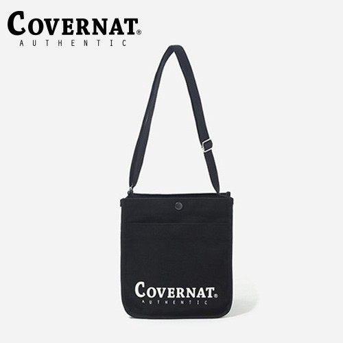 [COVERNAT] AUTHENTIC LOGO 小帆布側背包 黑色 [蝦皮限定]