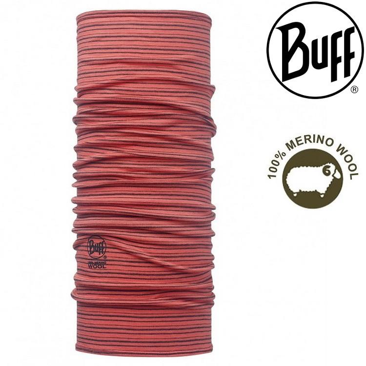 Buff 舒適織色-美麗諾羊毛頭巾 113011-506-10 橘色珊瑚