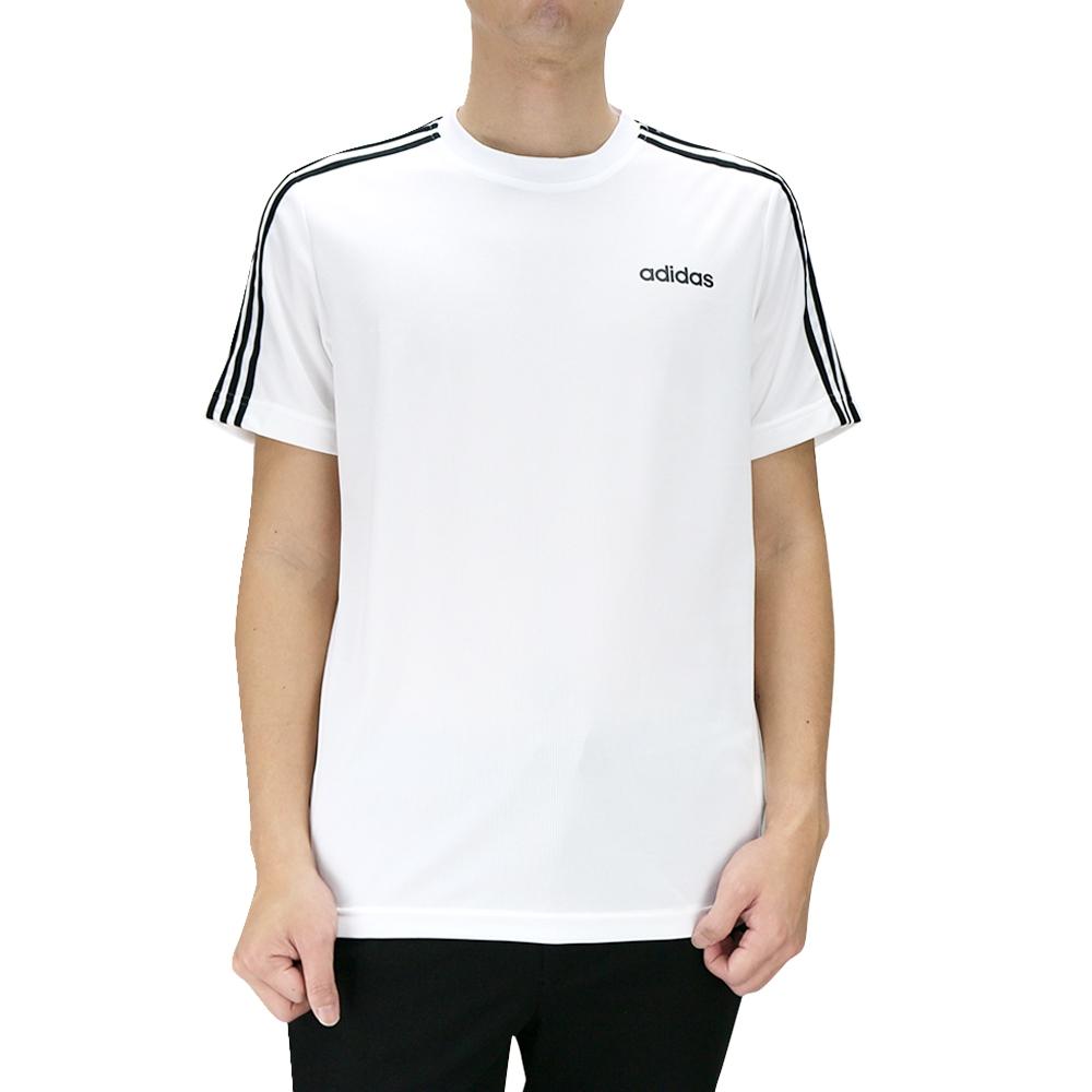 ADIDAS D2M 3S TEE 男 短袖上衣 白黑