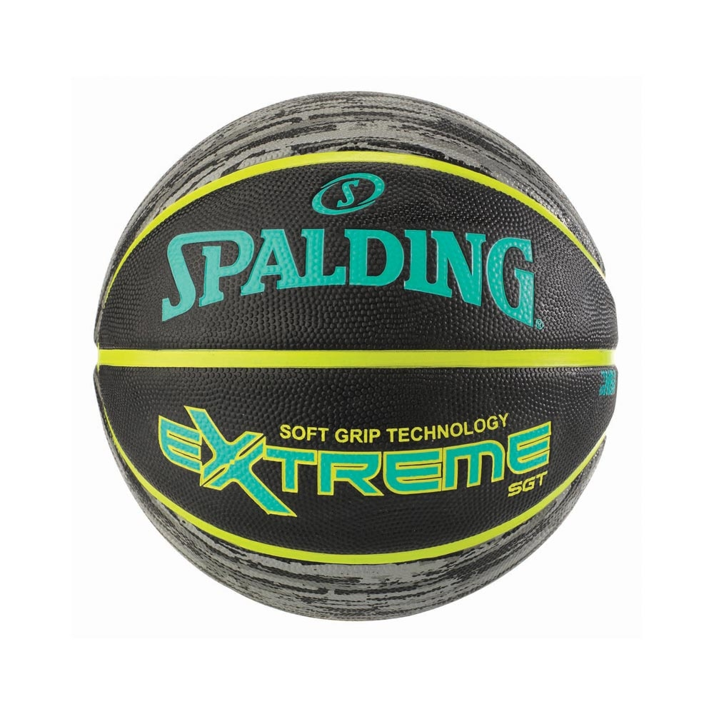 SPALDING 斯伯丁 NBA SGT 深溝柔軟膠 青檸黃 7號籃球