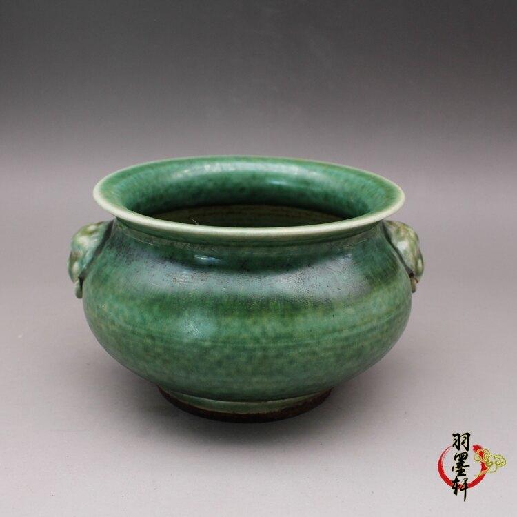晚清美人醉釉豇豆紅 香爐 古玩陶瓷古董瓷器仿古老貨收藏民間手工