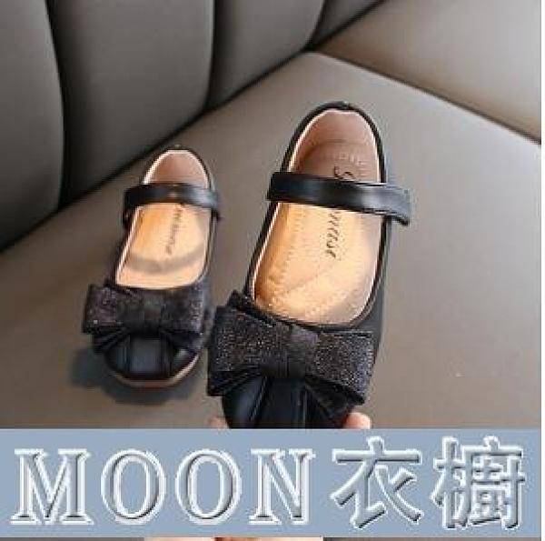 水晶鞋公主鞋 快速出貨女童皮鞋季新款兒童洋氣蝴蝶結公主鞋韓版女孩軟底淺口單鞋 快速出貨