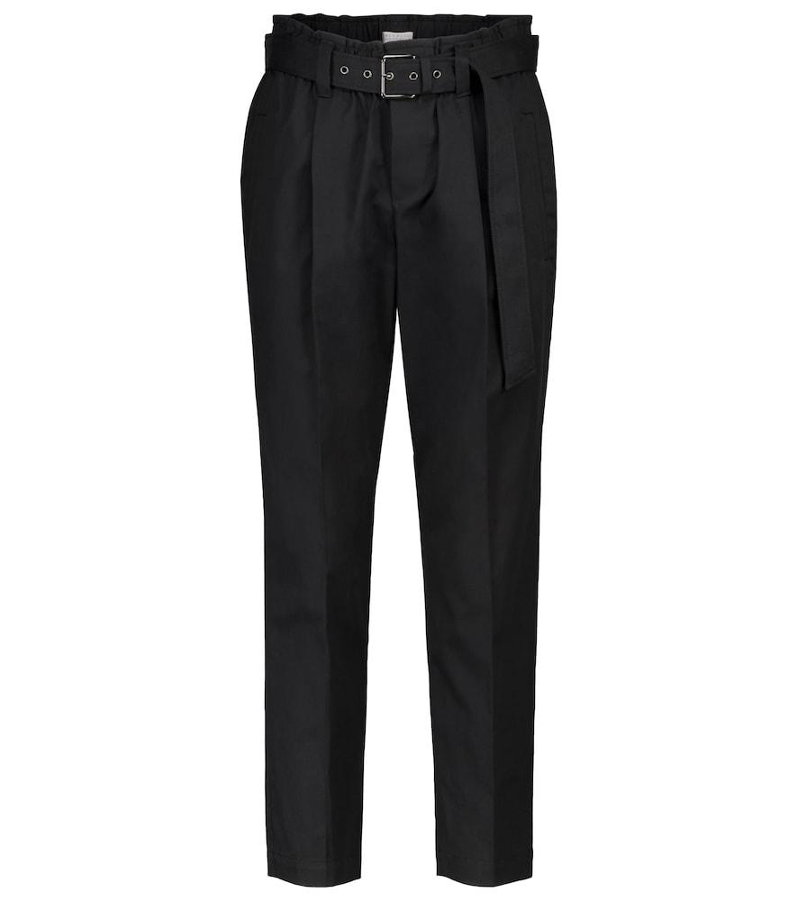 Mid-rise stretch-cotton slim pants