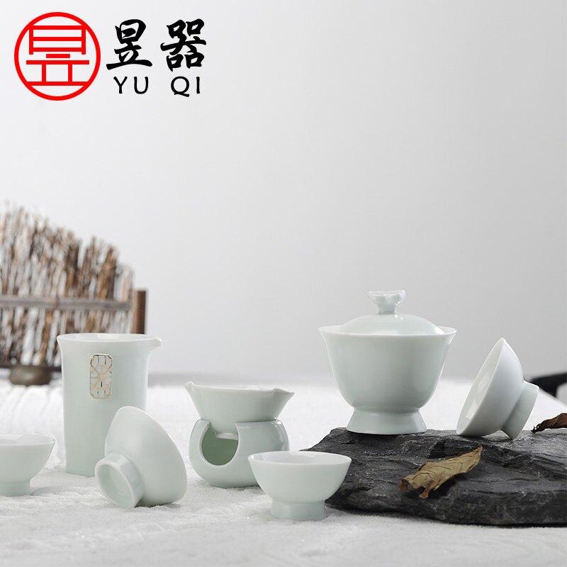 昱器德鴻演繹套裝茶具家用泡茶功夫茶具整套茶杯茶壺送禮包裝禮盒