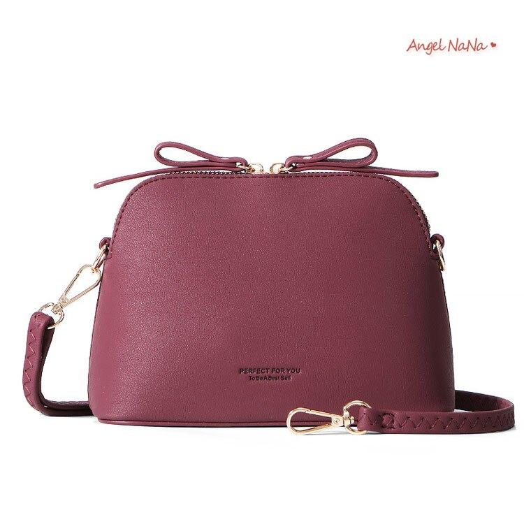 貝殼包。AngelNaNa  簡約ins純色斜背包小包女包【BA0360】