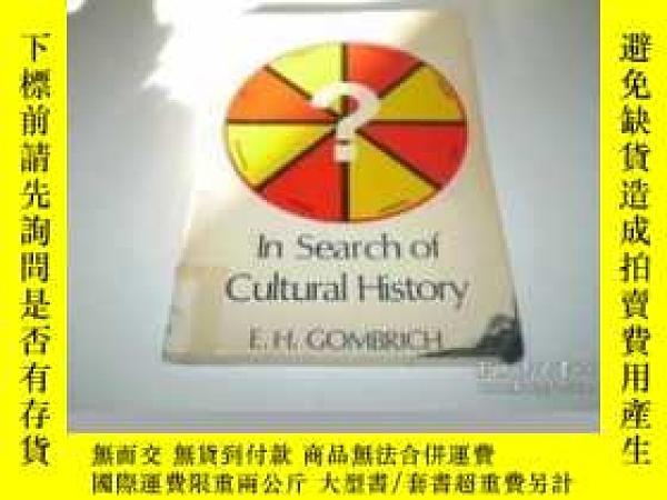 二手書博民逛書店In罕見Search Of Cultural History (p.m.deneke Lectures)Y25