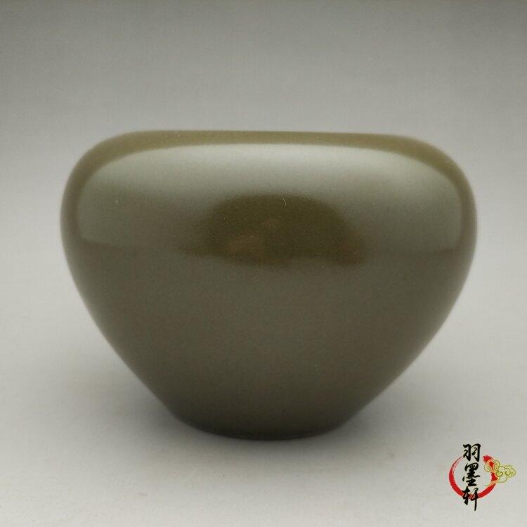 明 嘉靖茶葉末釉水淺筆洗  古玩古董陶瓷器仿古老貨收藏 羽墨軒