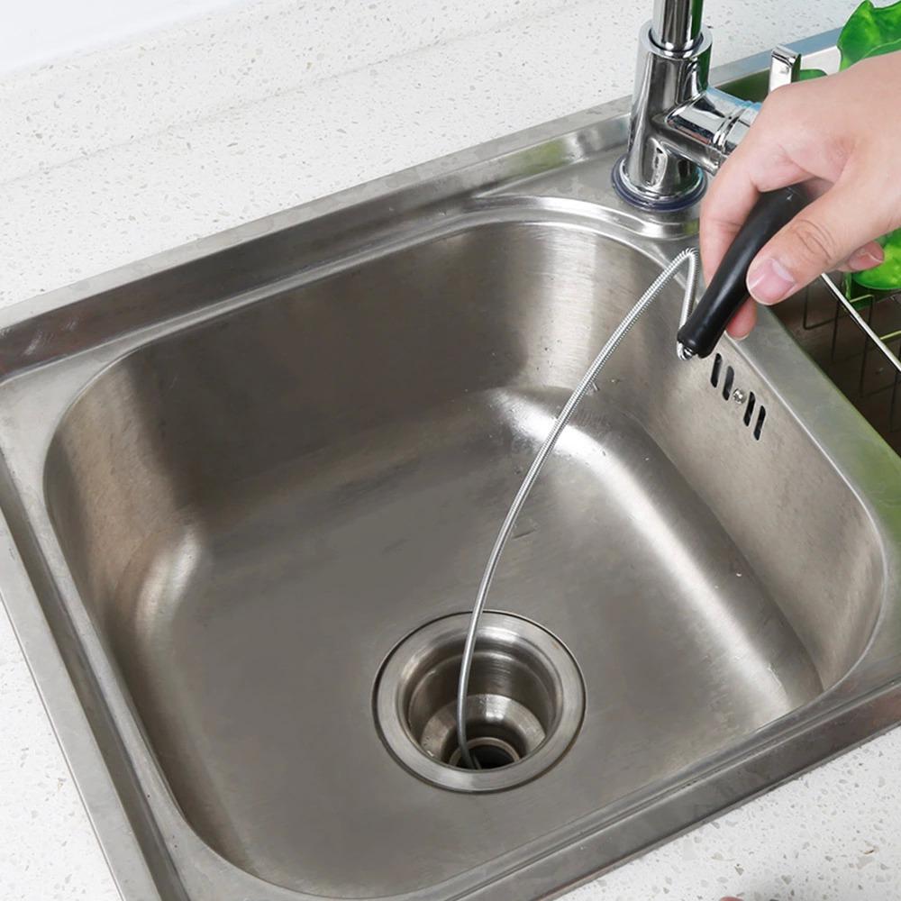 家用手動手搖彈簧軟管鋼絲繩捅馬桶下水道疏通器清理水道硬物堵塞