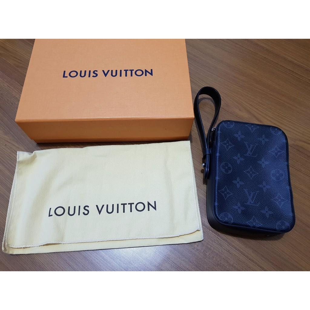 LV Louis Vuitton 黑色 Monogram 藤原浩限量聯名 手拿包