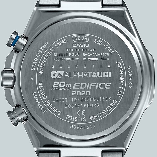 CASIO卡西歐 EDIFICE EQB-1100AT-2A 藍芽太陽能八角形錶圈賽車聯名錶款