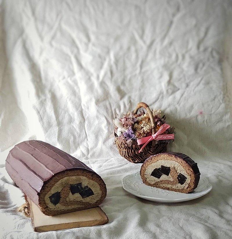 焙茶蕨餅生乳捲
