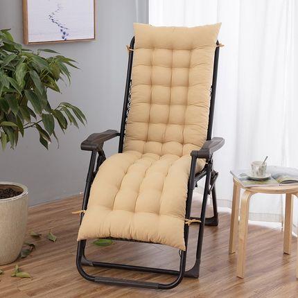 躺椅墊子 椅墊加厚加長 折疊躺椅搖椅坐墊棉墊秋夏季 辦公室秋夏天靠椅墊子『CM39533』