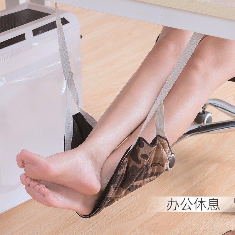 飛機上汽車用旅行放腳吊床腳踏歇腳墊辦公室擱腳放腿腳凳充氣足踏