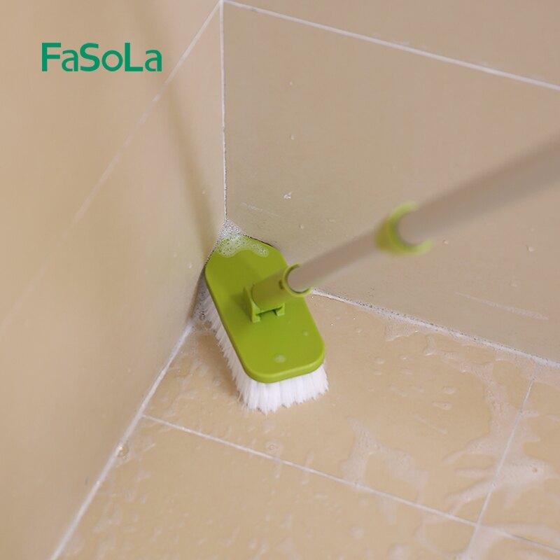 硬毛長柄擦浴室衛生間廁所墻壁瓷磚地磚清潔刷廚房洗地板縫隙地刷