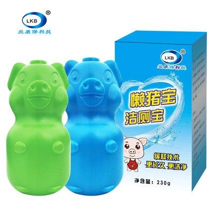 懶豬寶家用清香型馬桶凝膠香味除臭潔廁靈強力除垢藍泡泡水箱清潔