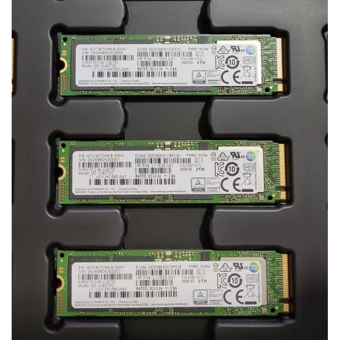 SAMSUNG 2TB PM981 NGFF M.2 MZVLB2T0HMLB MZ-VLB2T00 固態硬碟