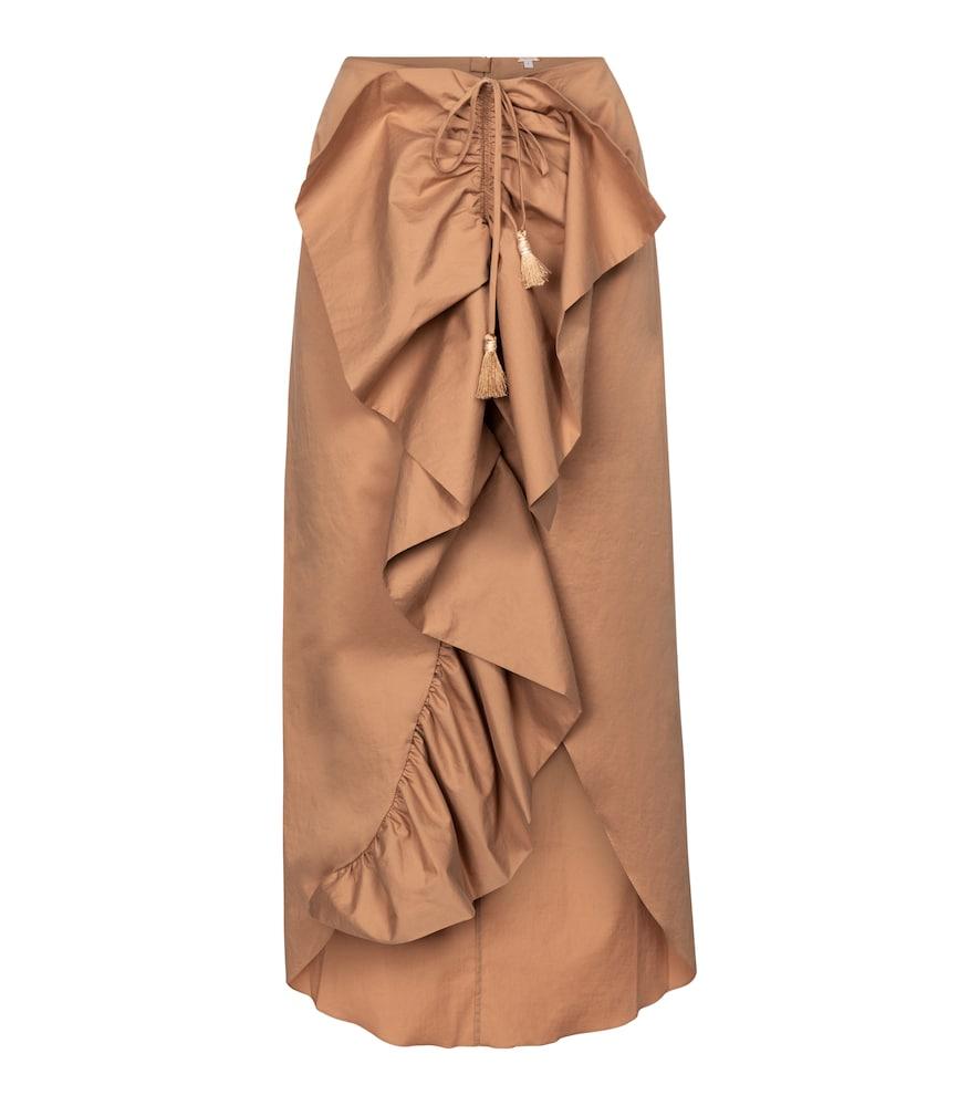 Rolling Hills ruffled midi skirt