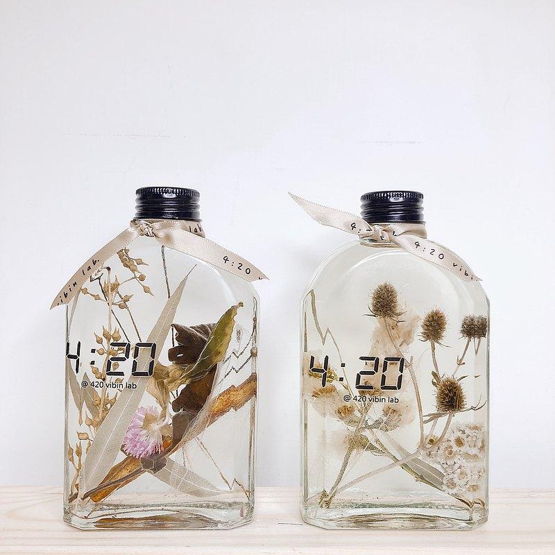 四點二十實驗室 reed diffuser獨家 天然乾燥花擴香方瓶 寵物適用