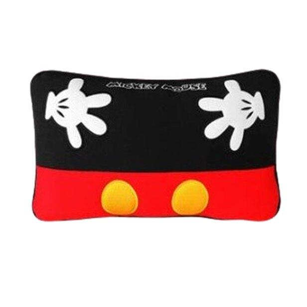 權世界@汽車用品 迪士尼Disney Mickey Mouse米奇 舒適 腰靠墊 小抱枕 黑紅色1入 WDC164