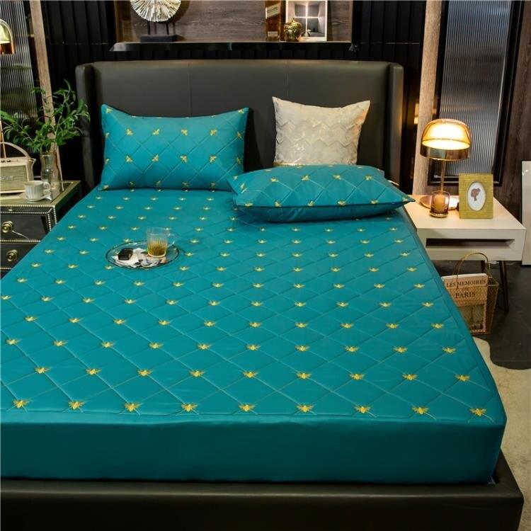 防水床笠加厚夾棉床罩單件防塵罩榻榻米床套罩子席夢思床墊保護套 雙12全館85折