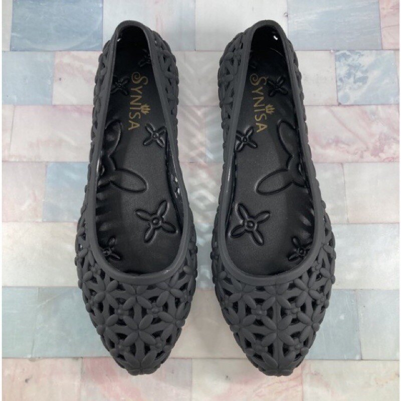 {順順優選}流行女鞋.416.造型雨鞋.果凍鞋.娃娃鞋.縷空雕花.黑色
