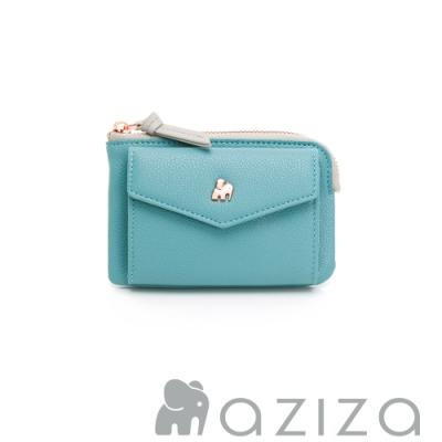 aziza CLARA鑰匙零錢包-松石綠