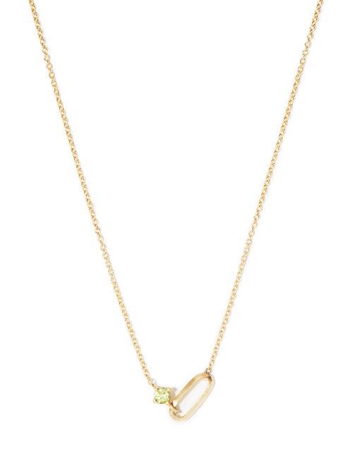 Lizzie Mandler - 18kt Gold Birthstone Necklace - Womens - Gold Multi