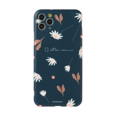 【TOYSELECT】iPhone 12 Mini 幽謐雛菊Dark Daisy抗污手機殼