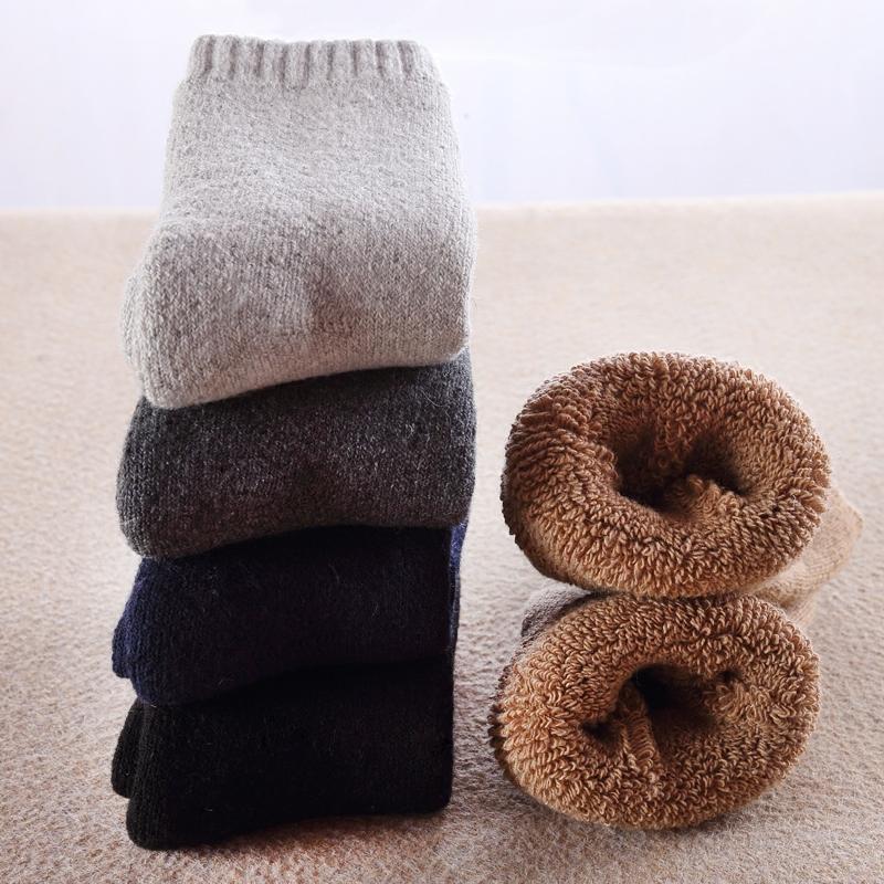 襪子 5雙裝超厚襪子男刷毛冬天羊毛巾襪保暖長襪秋冬款運動加厚中筒襪『CM39577』