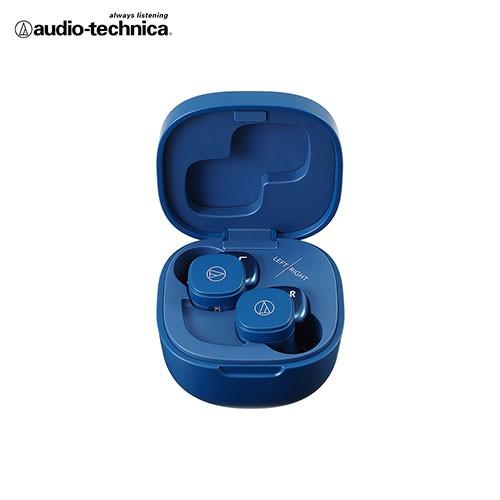鐵三角 小巧繽紛真無線耳機ATH-SQ1TW-BL-藍色【愛買】