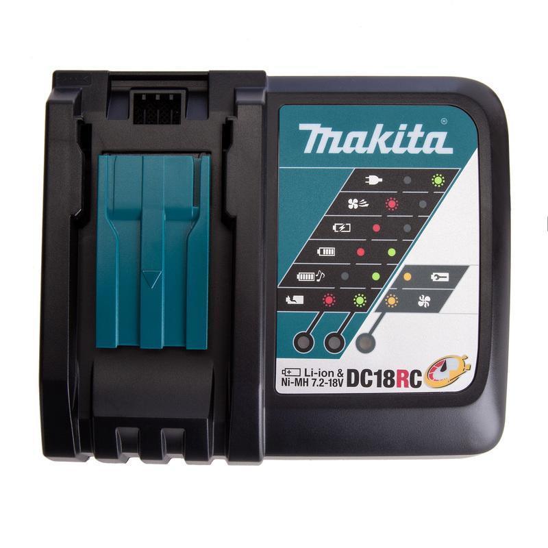 工具小妹~ 全新原廠 Makita 牧田 DC18RC 18V 充電器 適用18V電池 滑軌式