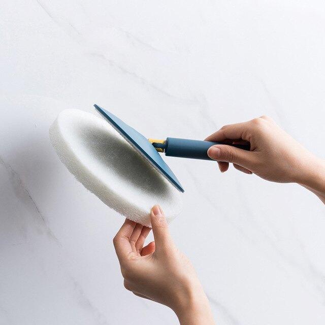 多功能家用浴室衛生間長柄海綿刷子廚房墻壁瓷磚地磚地板清潔神器