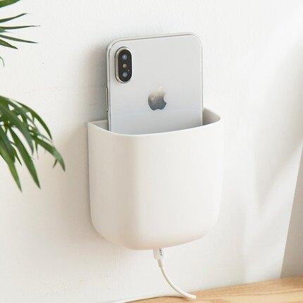 創意簡約客廳墻壁掛電視遙控器收納盒床頭墻上壁掛式裝放手機