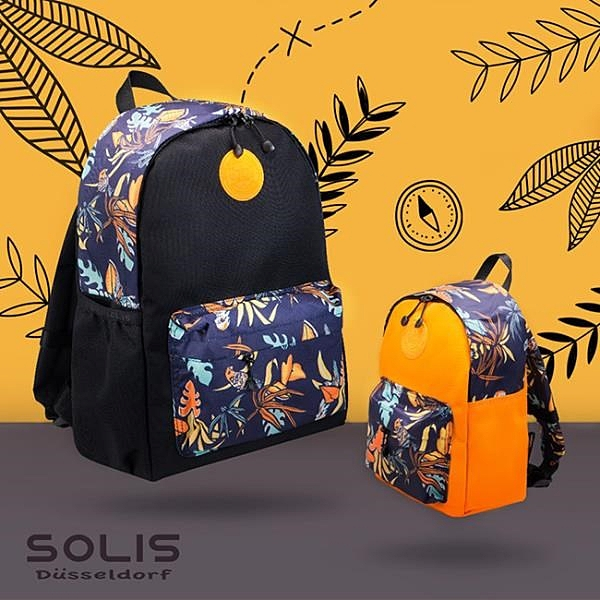 【南紡購物中心】SOLIS【熱帶天堂鳥系列】親子雙肩後背包-大