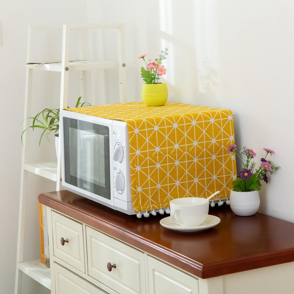 【現貨】微波爐罩防塵罩烤箱罩子蓋布烤箱布藝微波爐布防油蓋巾防塵布