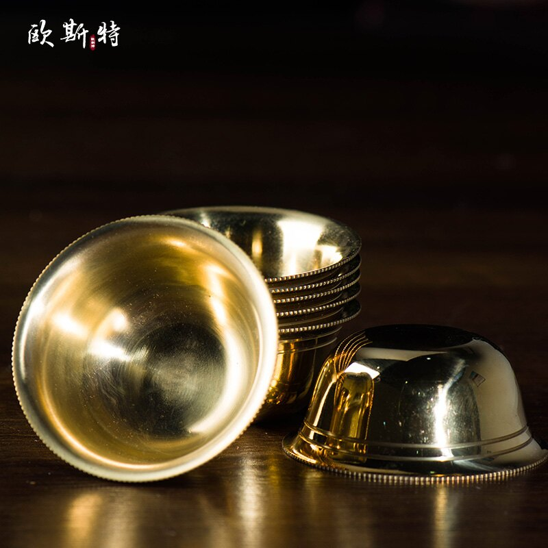 歐斯特 佛堂用品 銅亮光 供水碗 供水杯 七供水碗 直徑6.8cm