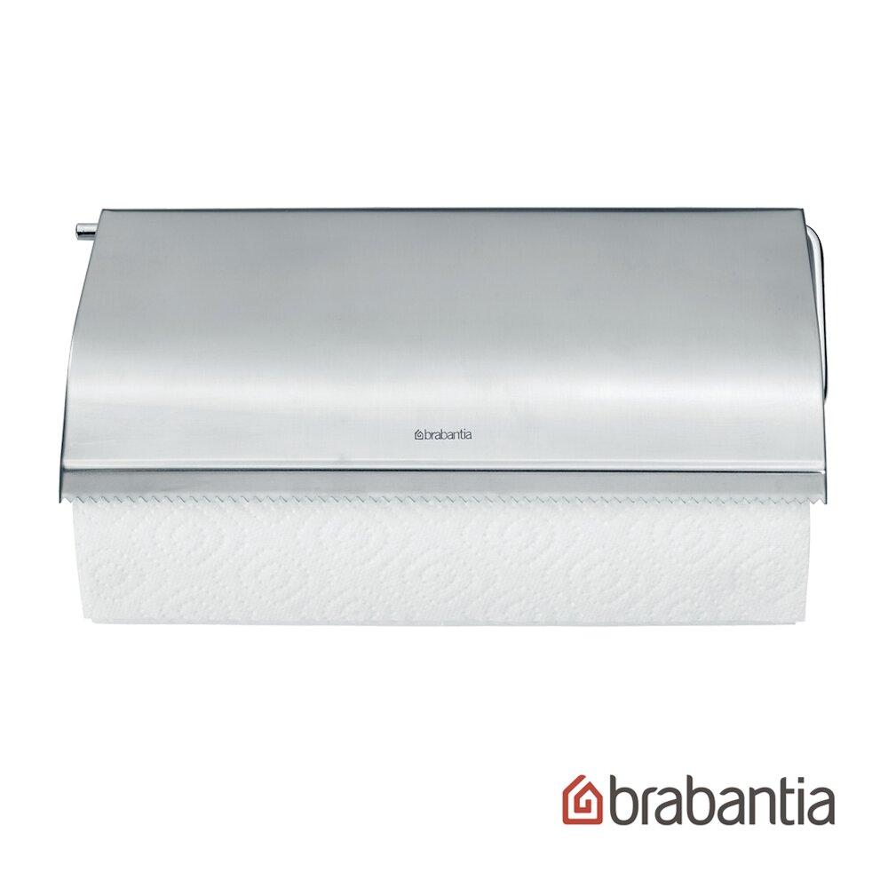 【Brabantia】壁掛式廚房紙巾架/捲紙架-太空銀