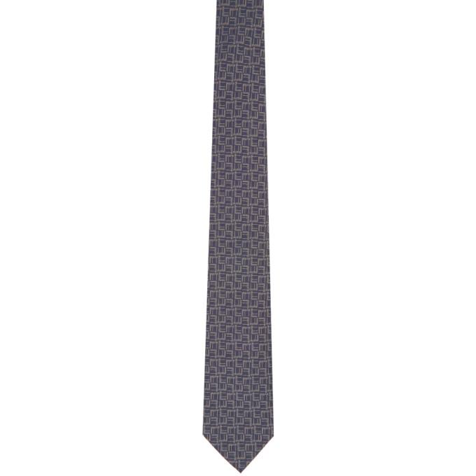 Dunhill 灰色 Longtail 真丝领带