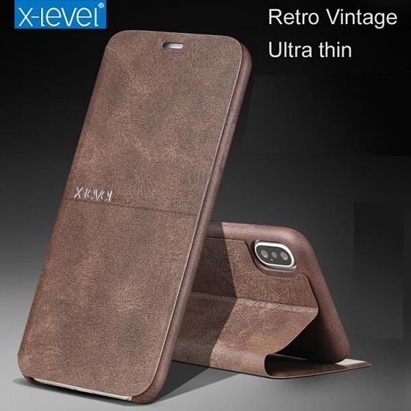 X-level 蘋果iPhone 7 8 Plus 手機殼 超薄 掀蓋殼 i7 i8 i7P i8P 保護殼 翻蓋皮套