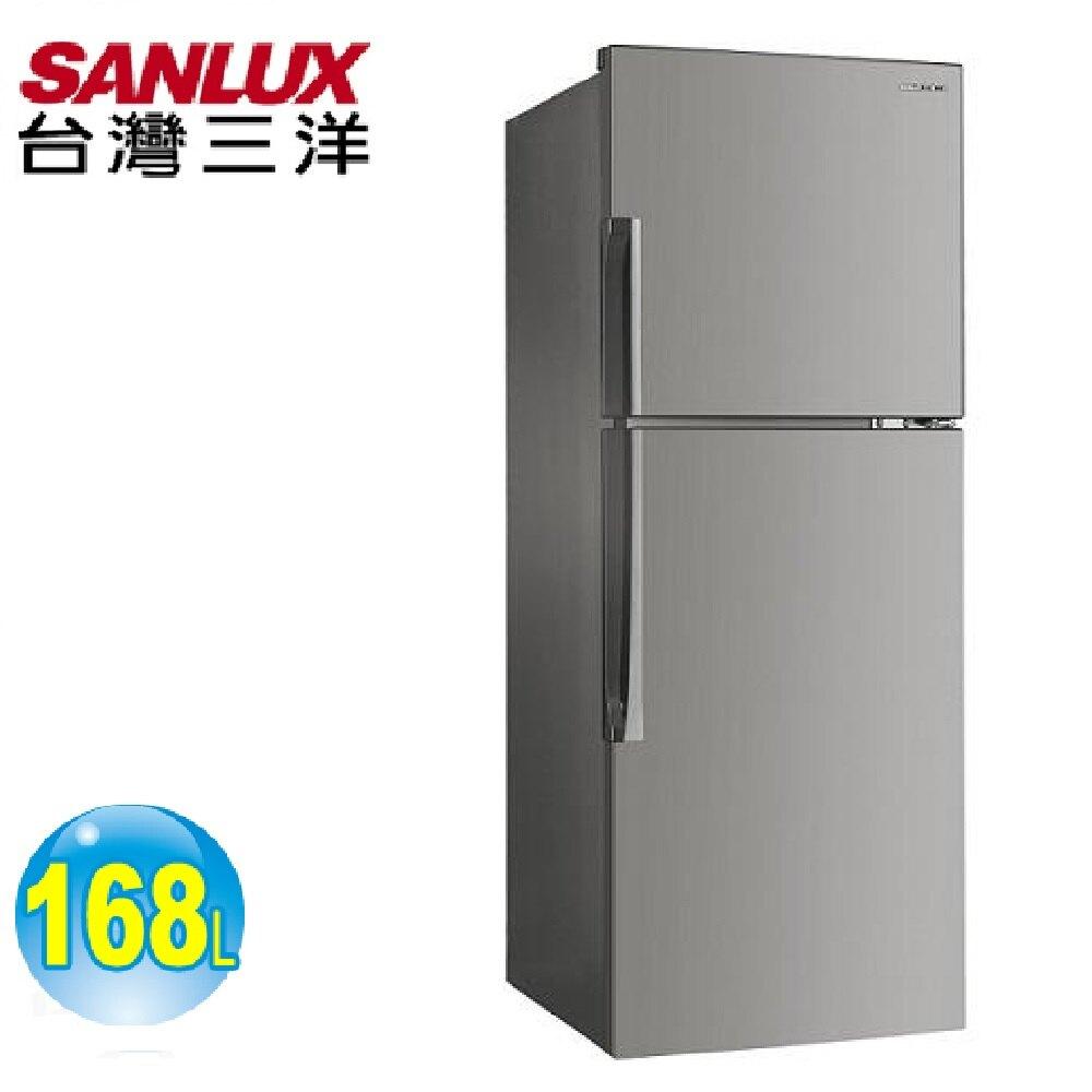 【SANLUX 台灣三洋】168公升二級能效定頻雙門冰箱(SR-C168B)