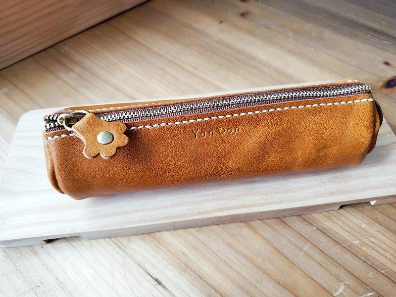 貓尾筆袋 皮革筆袋 鋼筆鉛筆盒 文具收納