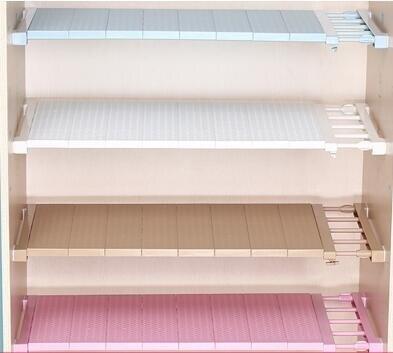 衣櫃收納分層隔板宿舍層架整理衣櫥櫃子鞋櫃隔斷免釘可伸縮置物架 雙十二全館85折