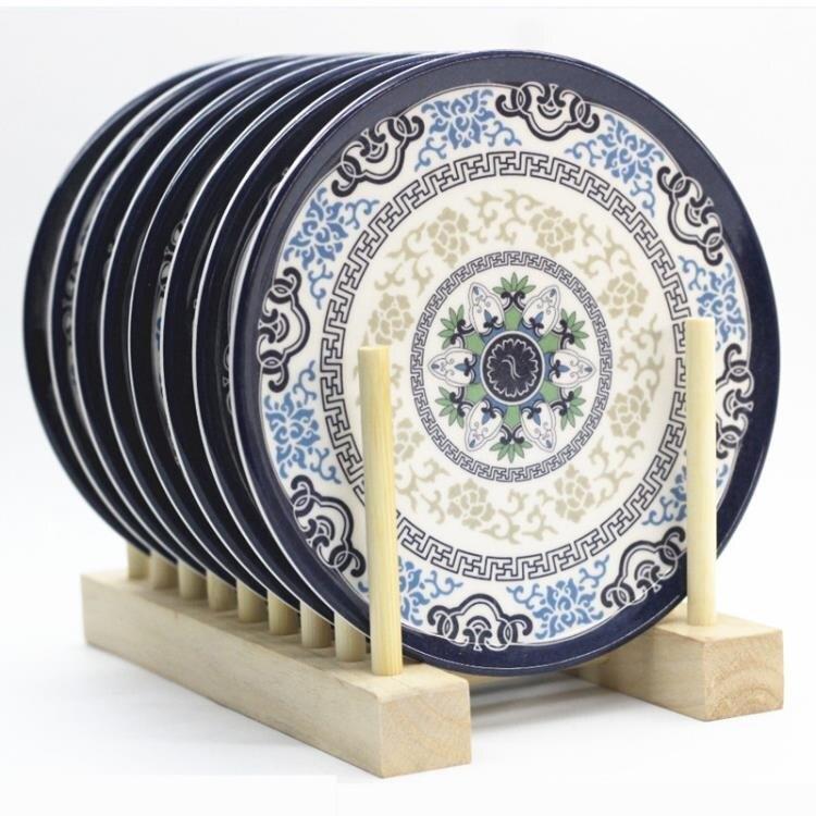 密胺隔熱墊仿瓷餐桌墊 家用歐式餐盤墊碗墊耐熱防燙鍋墊杯墊